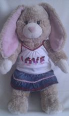 Adorable Big 'Love' Build-a-Bear Plush Bunny